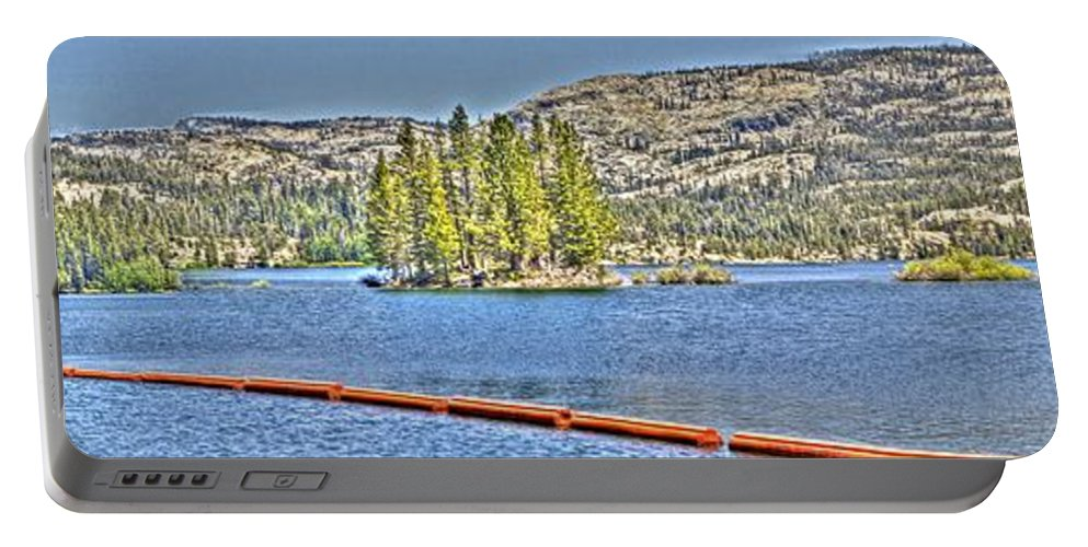 Lake Portable Battery Charger featuring the photograph Silver Lake 2 by SC Heffner