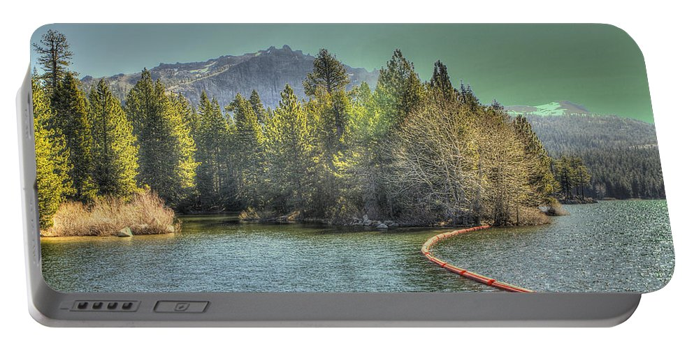 Lake Portable Battery Charger featuring the photograph Silver Lake 3 by SC Heffner