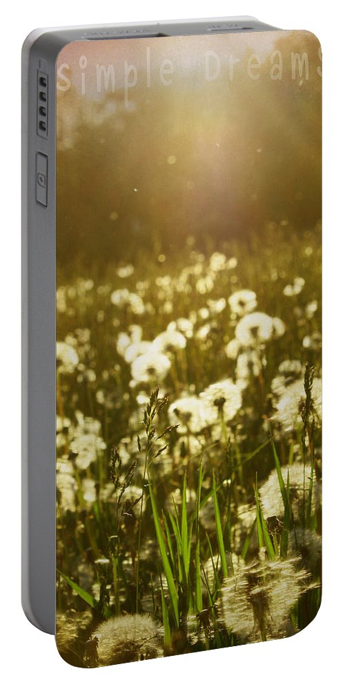 Landscapes Portable Battery Charger featuring the photograph Simple Dreams by The Artist Project