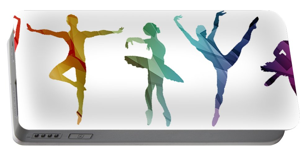 Life Portable Battery Charger featuring the mixed media Simply Dancing 3 by Angelina Vick