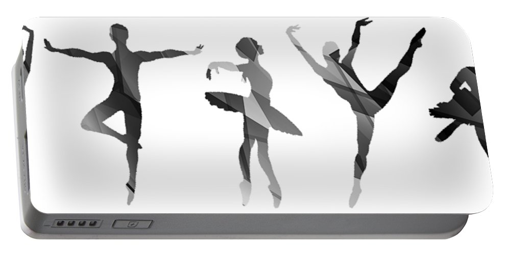 Life Portable Battery Charger featuring the mixed media Simply Dancing 4 by Angelina Vick