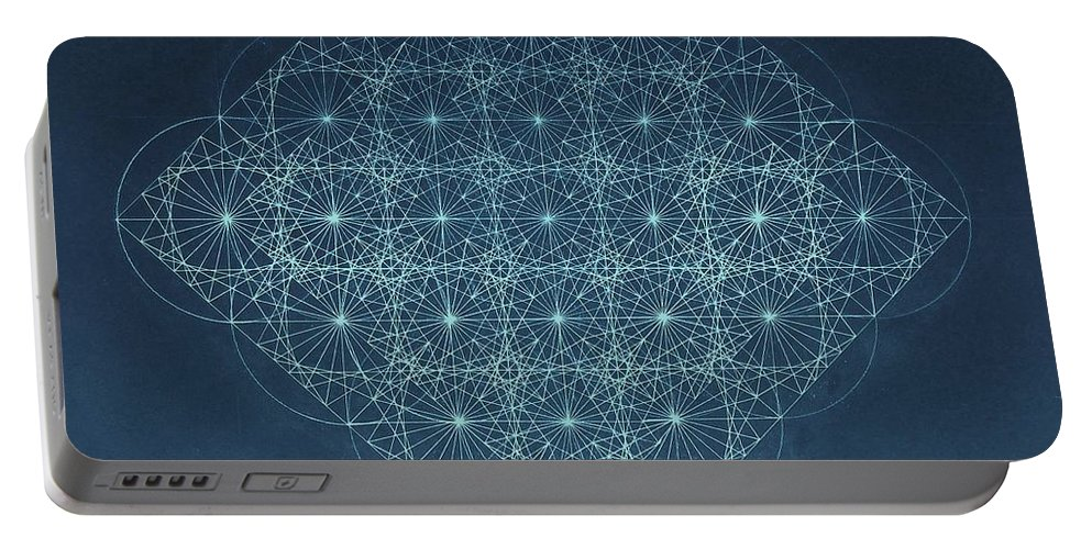 Fractal Portable Battery Charger featuring the drawing Sine Cosine And Tangent Waves by Jason Padgett