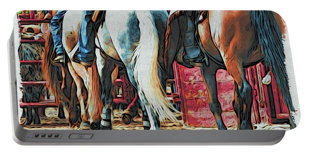 Horses Portable Battery Charger featuring the photograph Single File by Alice Gipson