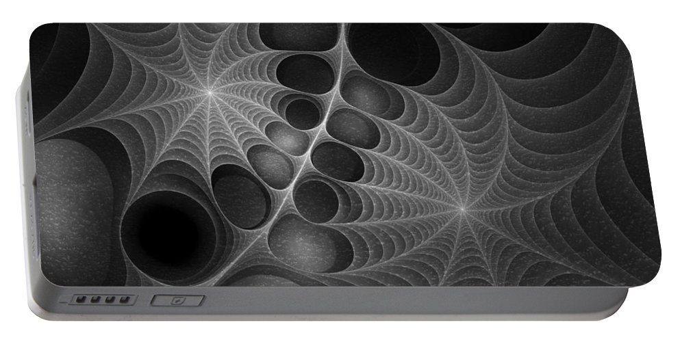 Abstract Portable Battery Charger featuring the digital art Sinister by Brandi Elaine Crochet