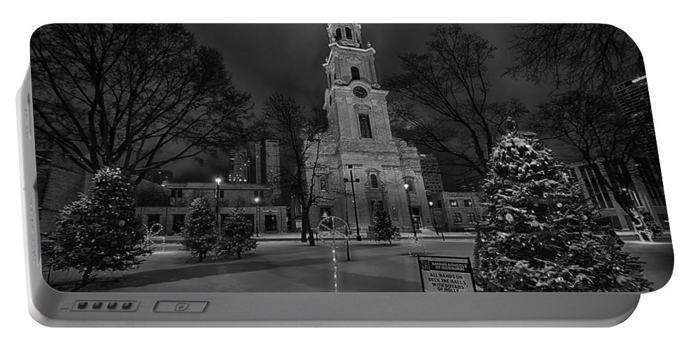 Cathedral Portable Battery Charger featuring the photograph Sinister by Jonah Anderson