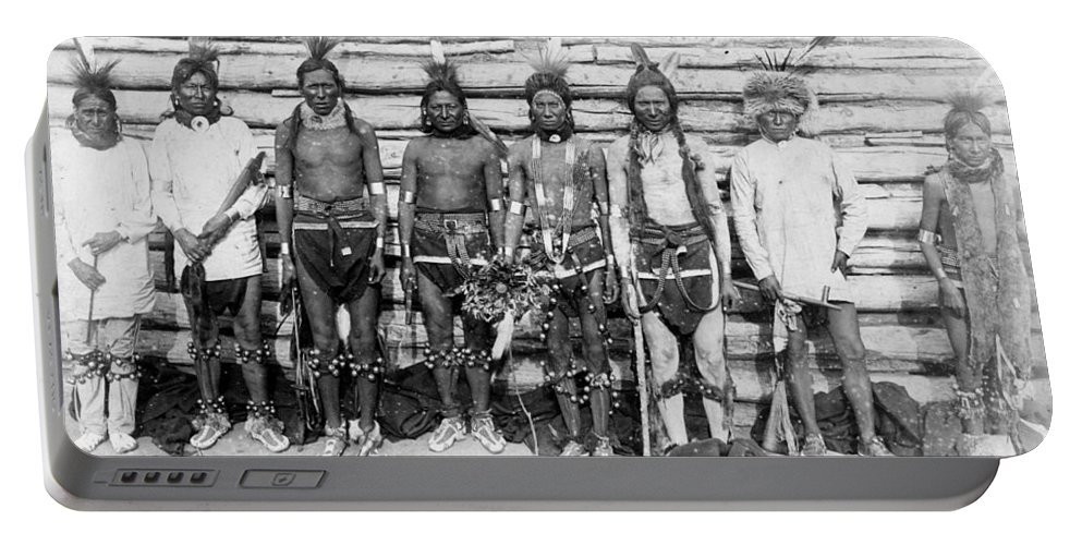 Sioux War Party Portable Battery Charger featuring the photograph Sioux War Party by Unknown