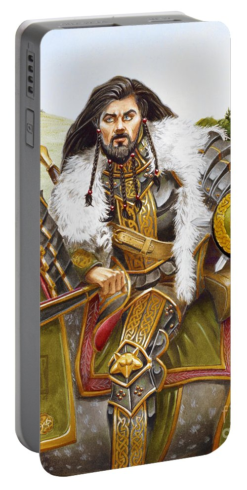 Fine Art Portable Battery Charger featuring the painting Sir Marhaus by Melissa A Benson