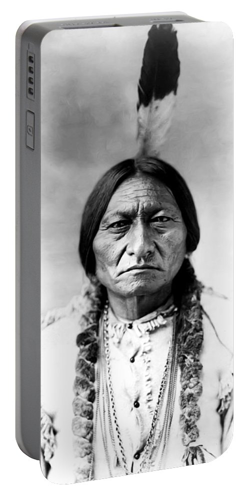 Sitting Bull Portable Battery Charger featuring the photograph Sitting Bull by Bill Cannon