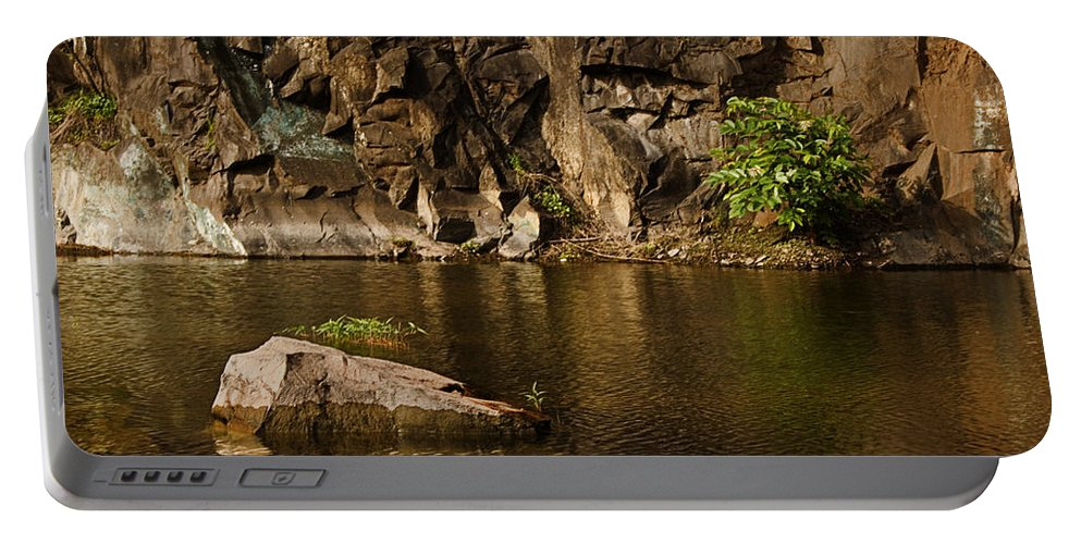 Rustic Portable Battery Charger featuring the photograph Skc 2964 The Rustic Rocks And Ripply Waters by Sunil Kapadia