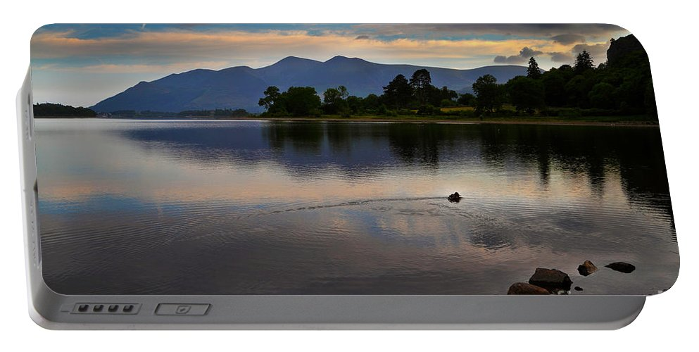 Travel Portable Battery Charger featuring the photograph Skiddaw And Derwent Water At Dawn by Louise Heusinkveld
