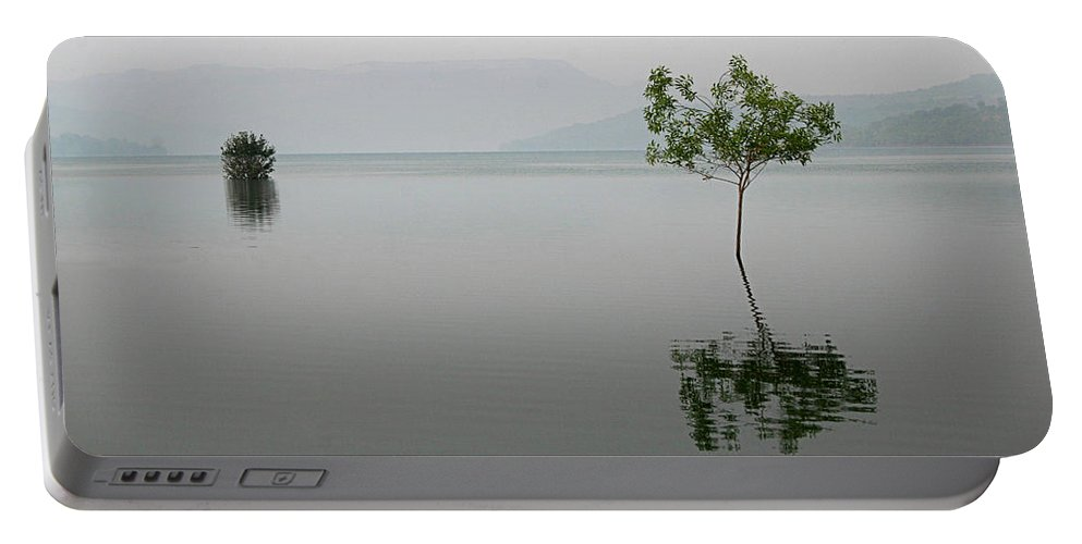Serene Portable Battery Charger featuring the photograph Skc 0082 Reflected In Stillness by Sunil Kapadia