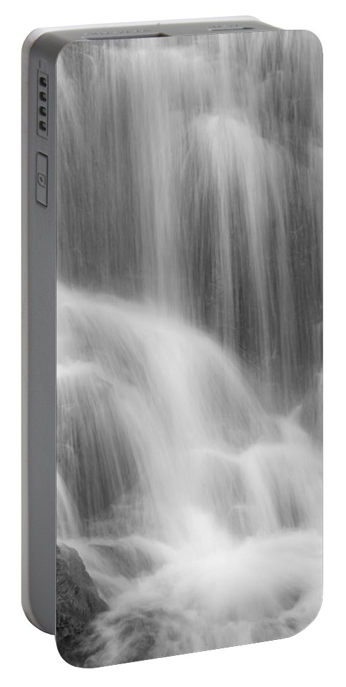 Close-up Portable Battery Charger featuring the photograph Skc 0218 Soothing Waterfall by Sunil Kapadia