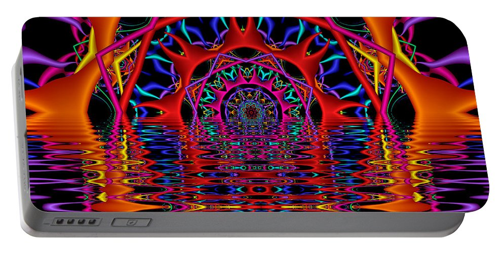 Sky Fire Portable Battery Charger featuring the digital art Sky Fire by Kimberly Hansen