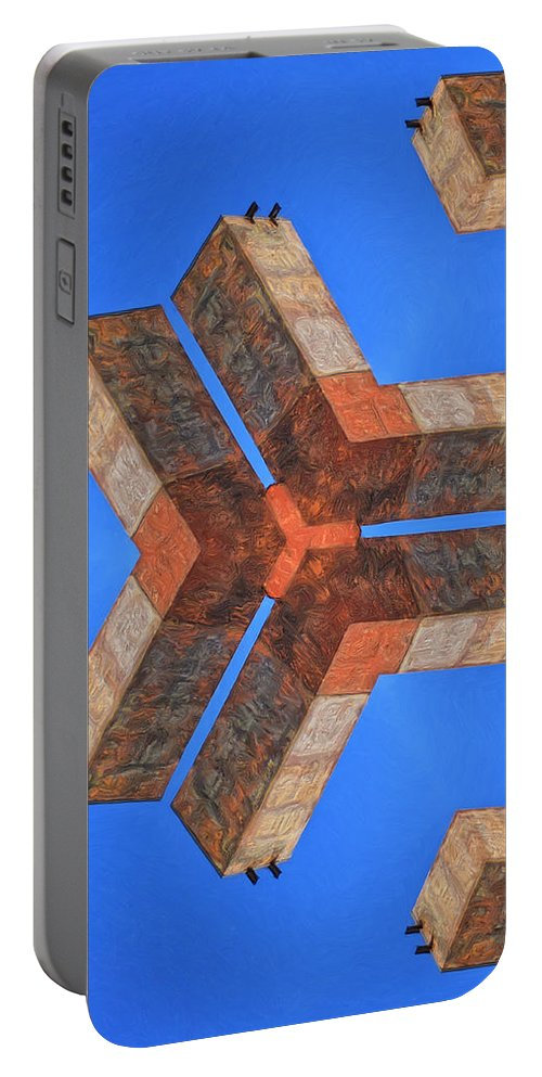 Sky Fortress Portable Battery Charger featuring the painting Sky Fortress Progression 4 by Dominic Piperata