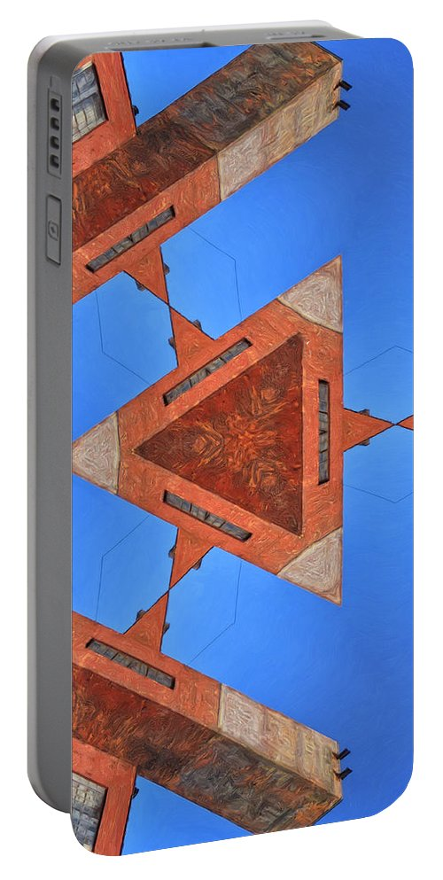 Sky Fortress Portable Battery Charger featuring the painting Sky Fortress Progression 9 by Dominic Piperata