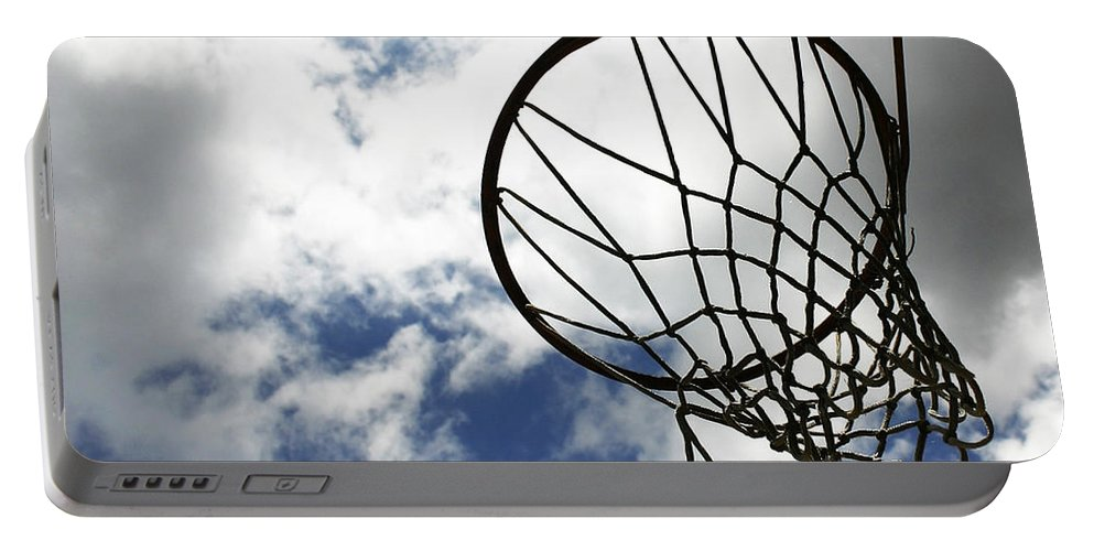 Net Portable Battery Charger featuring the photograph Sky Hoop by Guy Shultz