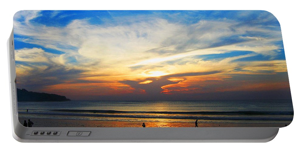 Sunset Portable Battery Charger featuring the photograph Sky Hues by Marguerita Tan