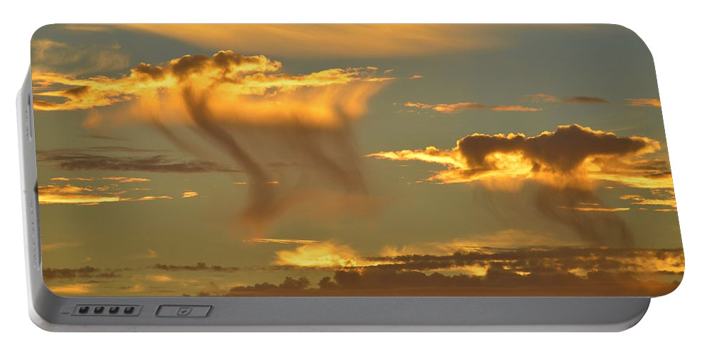 Clouds Portable Battery Charger featuring the photograph Sky Of Snakes by Deprise Brescia