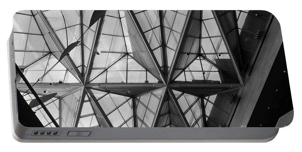 Architecture Portable Battery Charger featuring the photograph Skylight by Thomas Marchessault