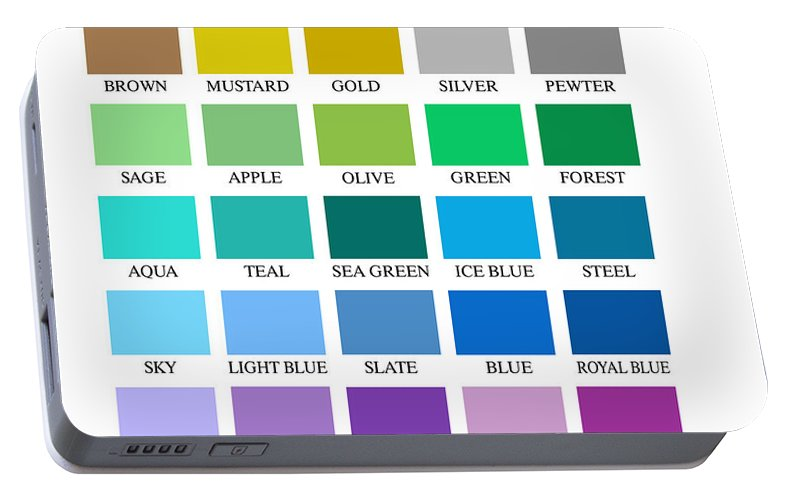 Skyline Series Color Chart Portable Battery Charger For Sale By Db