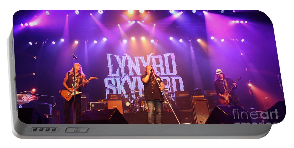 Lynyrd Skynyrd Portable Battery Charger featuring the photograph Skynyrd-group-7820 by Gary Gingrich Galleries
