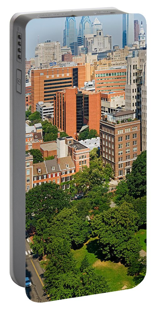Photography Portable Battery Charger featuring the photograph Skyscrapers In A City, Washington by Panoramic Images