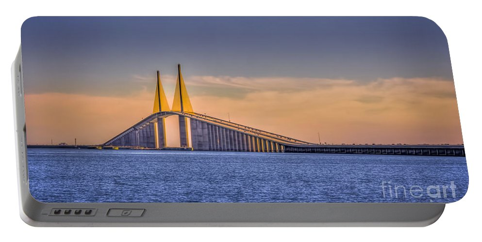 Skyway Bridge Portable Battery Charger featuring the photograph Skyway Bridge by Marvin Spates