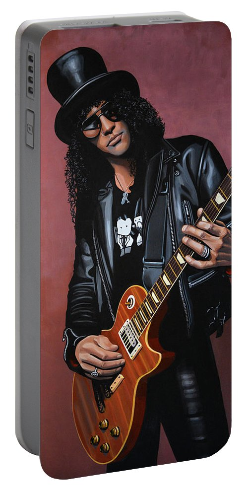 Slash Portable Battery Charger featuring the painting Slash by Paul Meijering