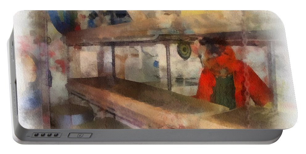 Submarine Portable Battery Charger featuring the photograph Sleeping Area Russian Submarine Photo Art 01 by Thomas Woolworth