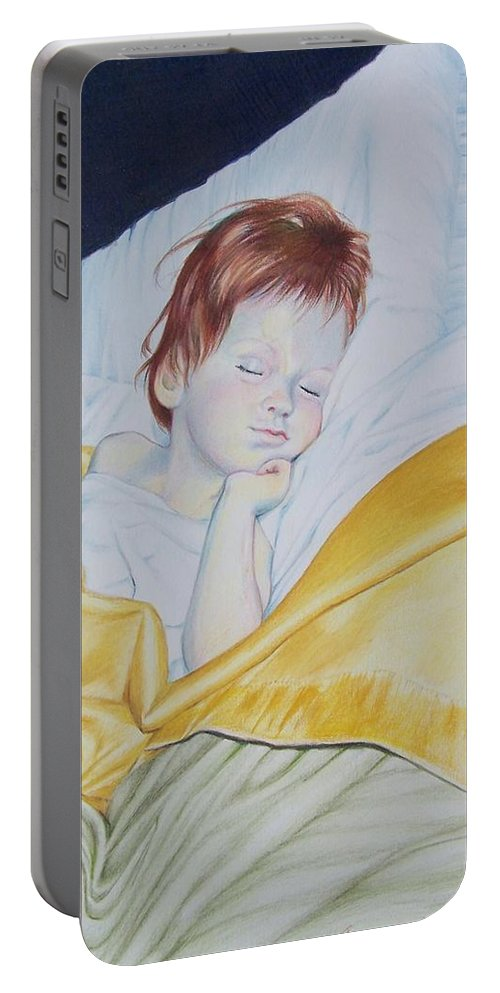 Baby Portable Battery Charger featuring the mixed media Sleeping Beauty by Constance Drescher