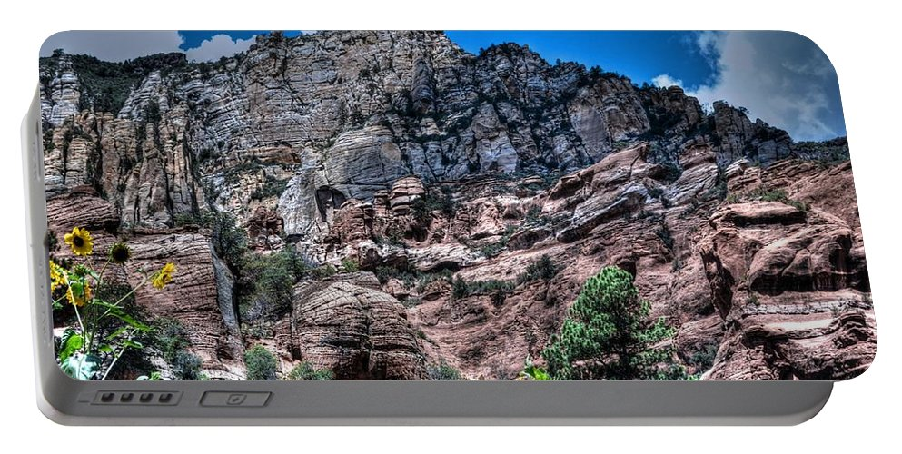 Slide Rock Portable Battery Charger featuring the photograph Slide Rock Canyon by Michael Damiani