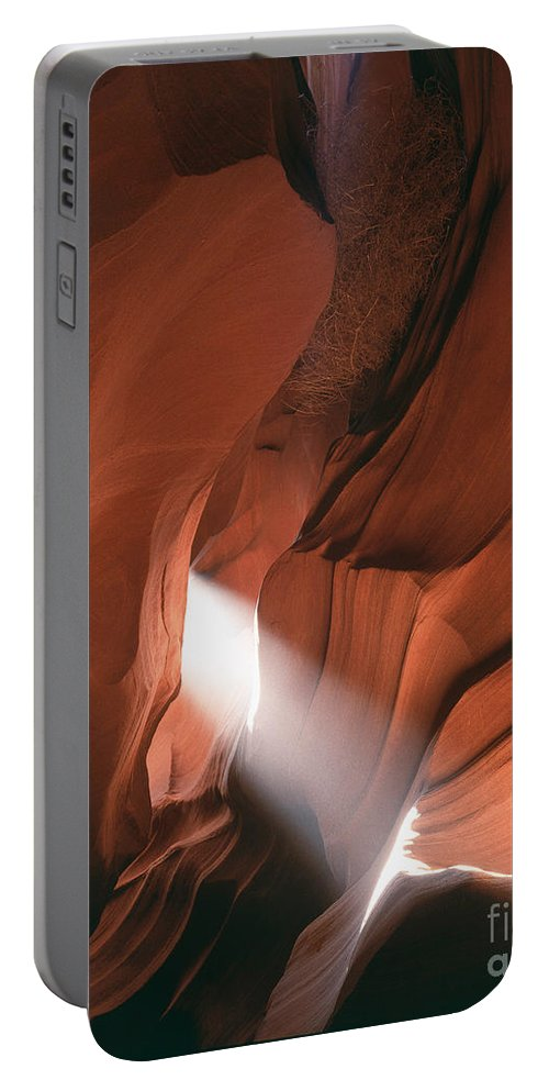 Antelope Canyon Portable Battery Charger featuring the photograph Antelope Canyon Sunbeam by Tracy Knauer