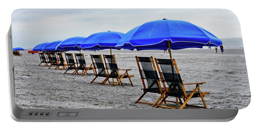 Beach Portable Battery Charger featuring the photograph Slow Day At The Beach by Thomas Marchessault