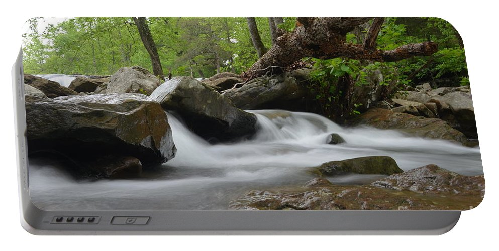 Waterfalls Portable Battery Charger featuring the photograph Small Falls by Deanna Cagle