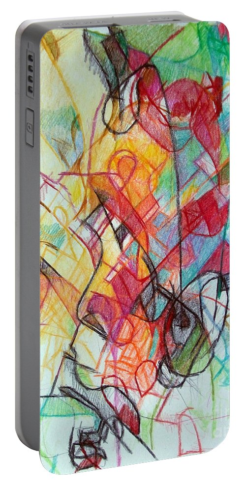 Torah Portable Battery Charger featuring the drawing True Humility 2 by David Baruch Wolk