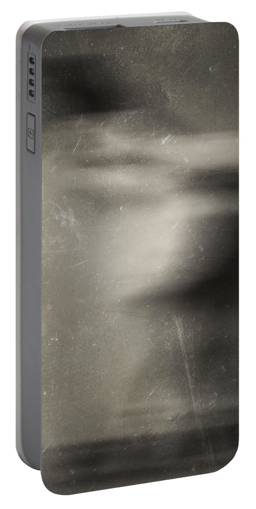 Blur Photography Portable Battery Charger featuring the photograph Smell The Flowers by The Artist Project
