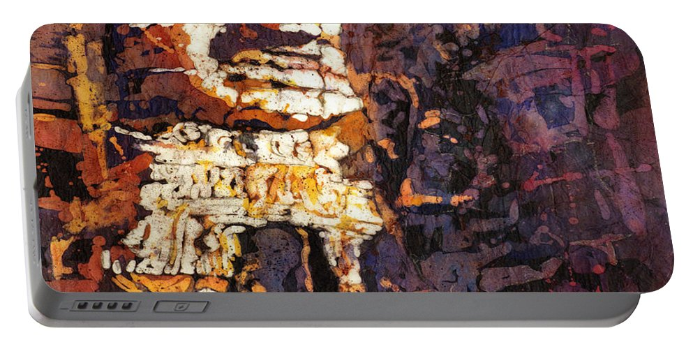Batik Portable Battery Charger featuring the painting Smile. It's Contagious by Ryan Fox