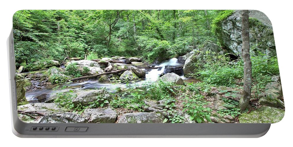 8799 Portable Battery Charger featuring the photograph Smith Creek Downstream Of Anna Ruby Falls - 2 by Gordon Elwell