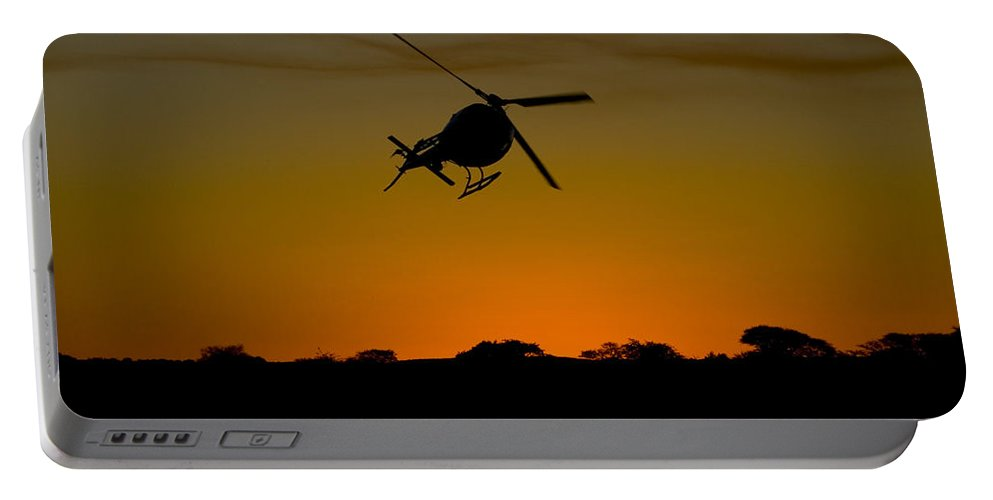 Eurocopter As350 B3 Portable Battery Charger featuring the photograph Smoke by Paul Job