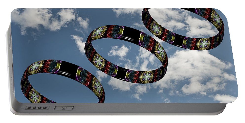 Smoking Trails Portable Battery Charger featuring the photograph Smoke Rings In The Sky 1 by Steve Purnell