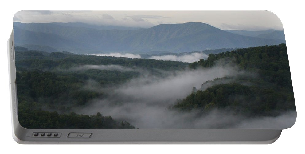 Smoky Mountains Portable Battery Charger featuring the photograph Smoky Mountain Mist by Dan McCafferty