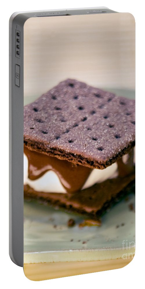 S'more With Chocolate Graham Portable Battery Charger featuring the photograph National S'mores Day by Iris Richardson