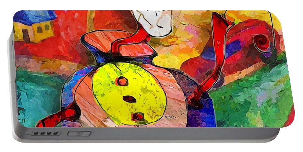 Graphics Portable Battery Charger featuring the digital art Snail 0372 Marucii by Marek Lutek