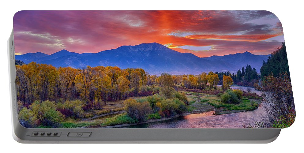 Snake River Portable Battery Charger featuring the photograph Snake River Sunrise by Greg Norrell