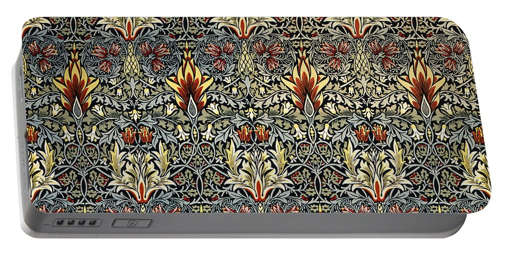 William Portable Battery Charger featuring the digital art Snakeshead by William Morris