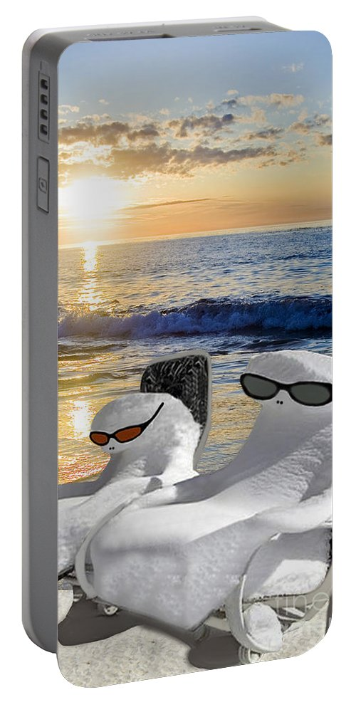 Florida Portable Battery Charger featuring the photograph Snow Bird Vacation by Gary Keesler