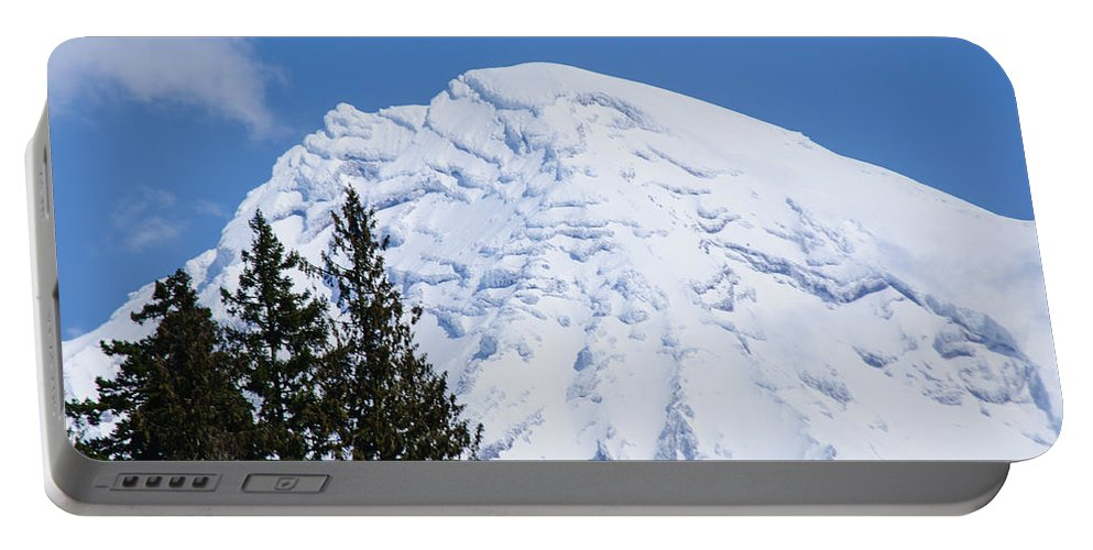 Snowcone Portable Battery Charger featuring the photograph Snow Cone Mountain Top by Tikvah's Hope
