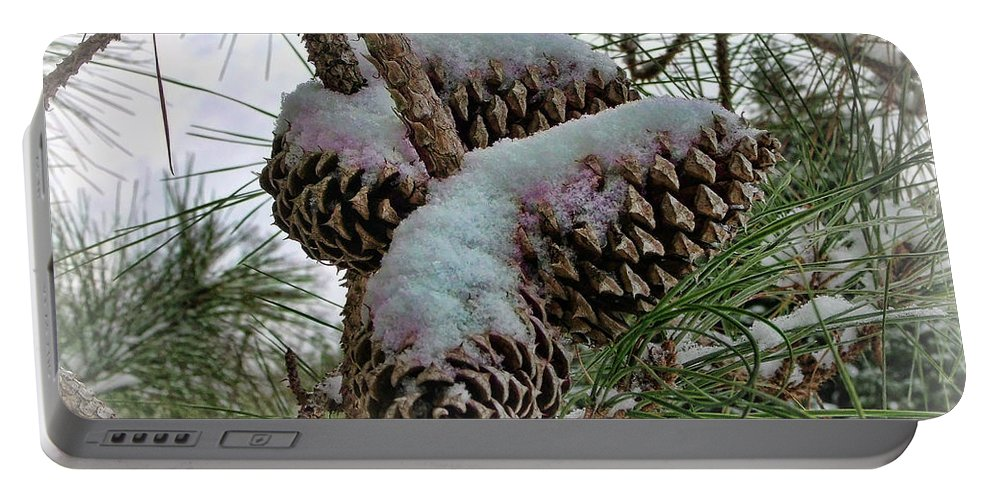 Victor Montgomery Portable Battery Charger featuring the photograph Snow Cones by Victor Montgomery