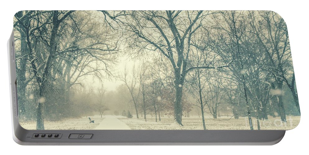 Snow Portable Battery Charger featuring the photograph Snow Day by Pam Holdsworth