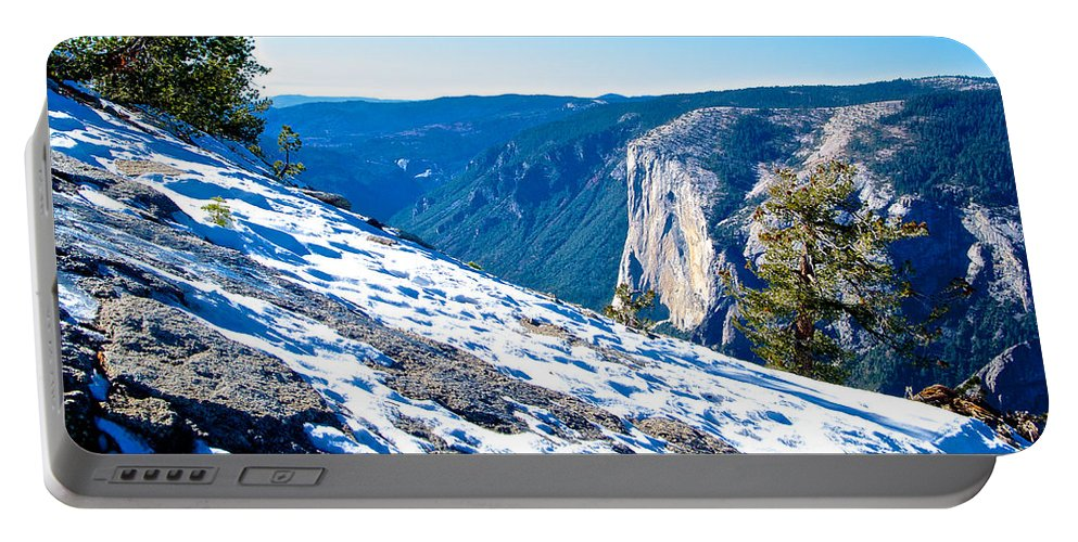 Snow On Sentinel Dome In Yosemite Np Portable Battery Charger featuring the photograph Snow On Sentinel Dome In Yosemite Np-ca by Ruth Hager